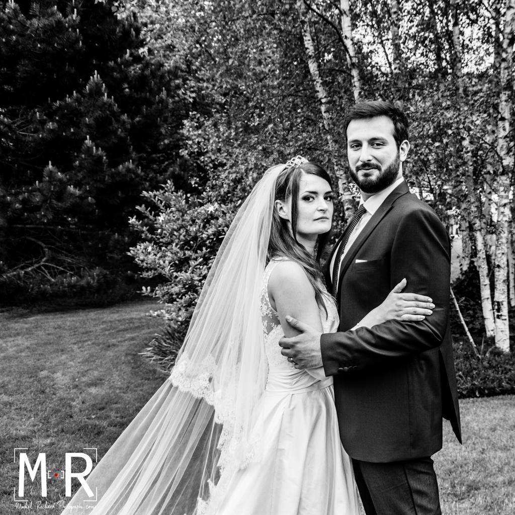 Mariage- mariés pose Hollywood, vintage glamour