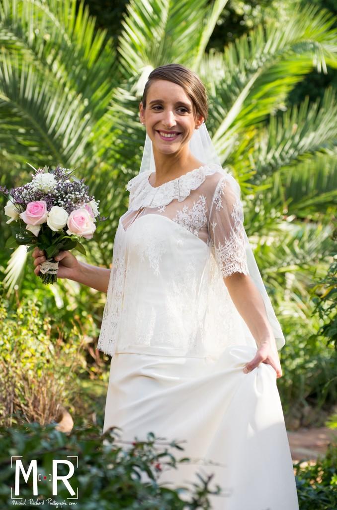 Mariage-la mariée au palmier-couple-Michel-Richard-