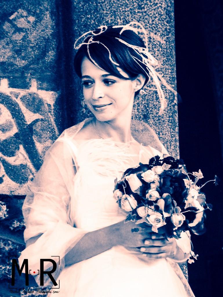 Mariage-la mariée au bouquet-Michel-Richard-