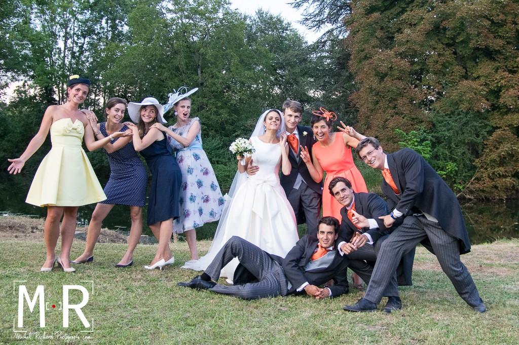les témoins avec les mariés