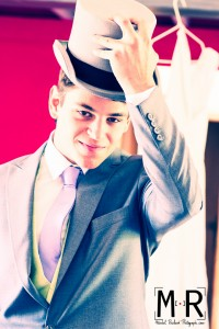 salutations avec chapeau haut de forme - mariage