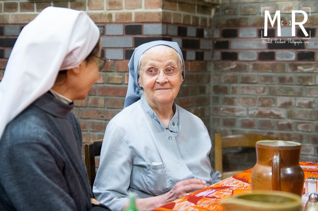 monastère, bénédictine, temps du repas
