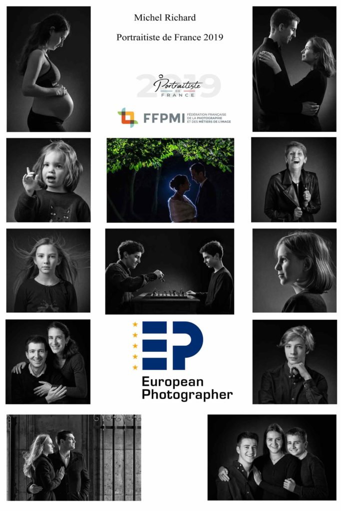 Michel Richard photographe sacré Portraitiste de France 2019